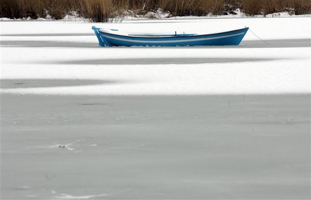 Boat in a Lake near Ankara