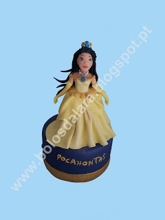 Princess Pocahontas (sugarpaste model)-lara's cakes - Bolos Da Lara