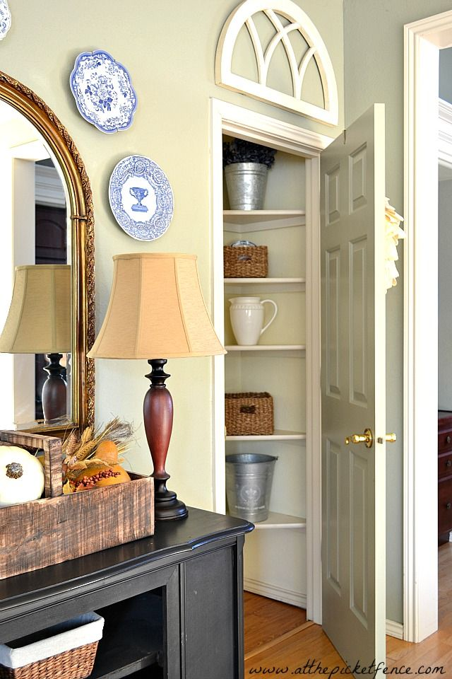 Under Stairs Closet | Under Stair Closet Turned Butler's Pantry