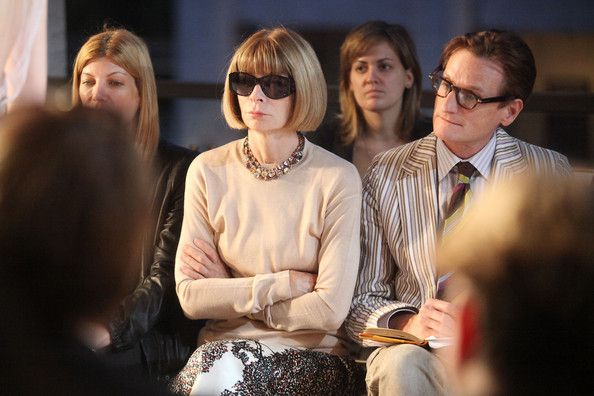 Anna Wintour Photos - (L-R) Vogue Editor-in-Chief Anna Wintour and Vogue European Editor-at-Large Hamish Bowles attend the Zac Posen Spring 2012 fashion show during Mercedes-Benz Fashion Week at Avery Fisher Hall, Lincoln Center on September 11, 2011 in New York City. - Zac Posen - Front Row - Spring 2012 Mercedes-Benz Fashion Week