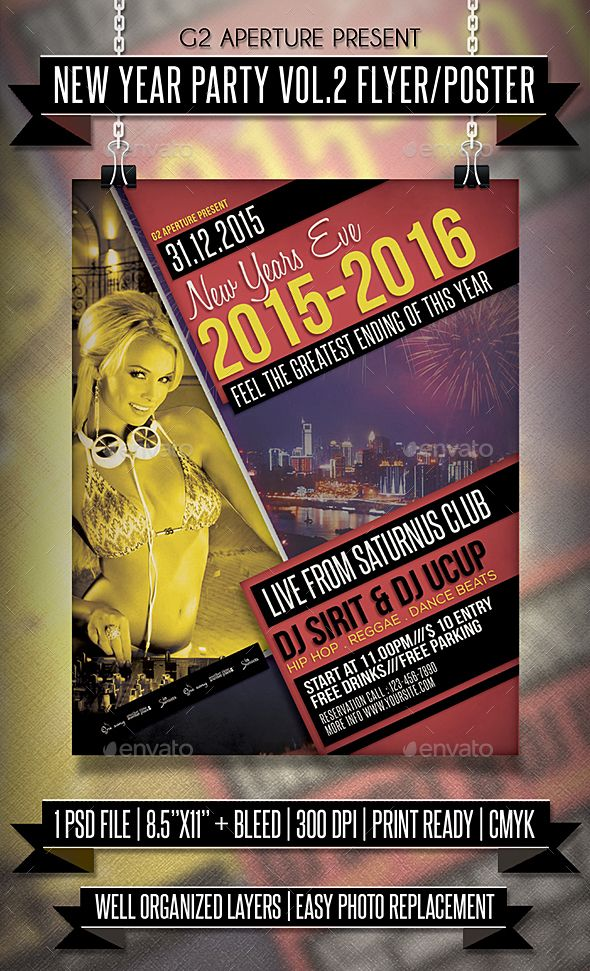 100 Best New Year Party Flyer Templates Images On Pinterest