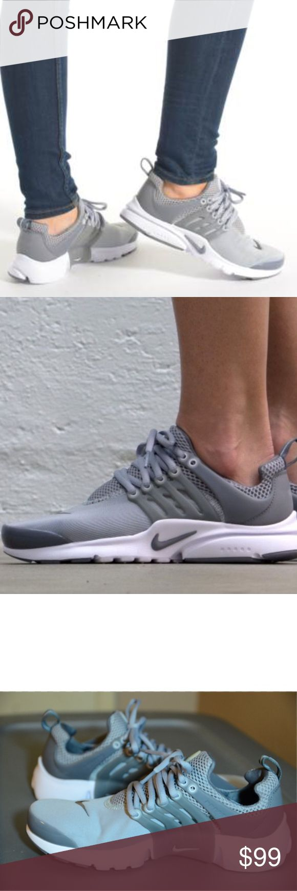Women's/Girls Nike Air Presto (Size 7y/8.5w) Brand New in box 100% Authentic Excellent Condition Size: 7y(youth)= Fits Size 8.5 women Gray/White Colorway Ships doubled boxed Same day/Next day Shipping provided Nike Shoes Sneakers