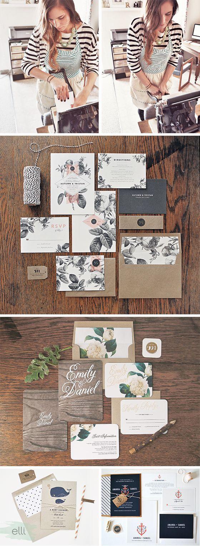 Wow! Stunning designs. Meet the Elli Wedding Invitation Designer: Rachel of Rachel Marvin Creative | Elli.com: