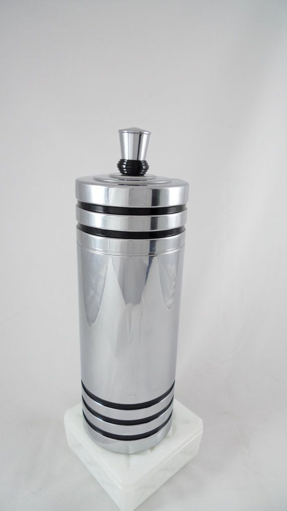 Art Deco Chase Gaiety Chrome Cocktail Shaker with Bakelite 1930's Vintage Bar Ware UC131 on Etsy, $66.00Vintage Barware