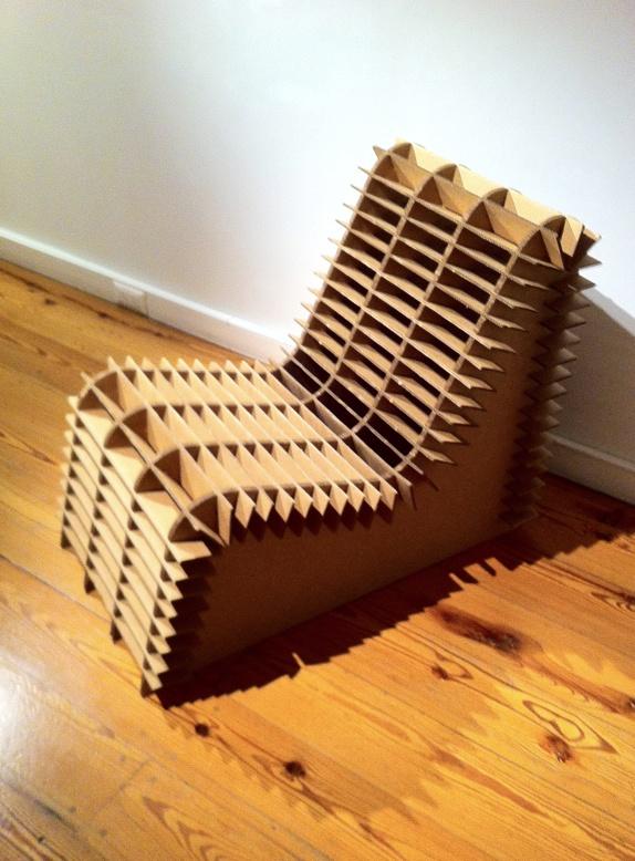 Cardboard chair by Ana Rascovsky.
