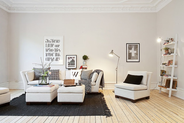 Black, white and grey #interior #indoor