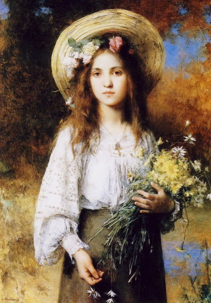 Image result for pretty girls 1800 painting