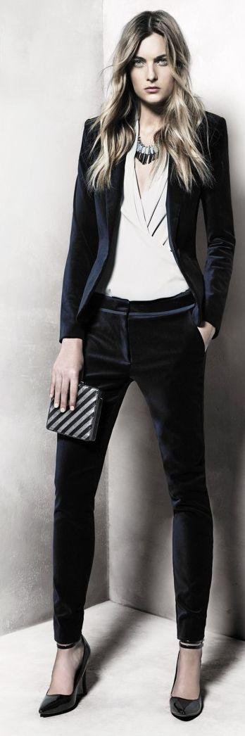 Black Skinny Low Rise Tuxedo Pants by Fashion Gone Rogue