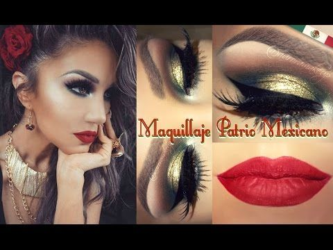 Maquillaje Patrio MEXICANO (MEXICAN Look) - YouTube
