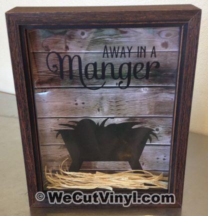 Away in a Manger  (love this idea on wecutvinyl)