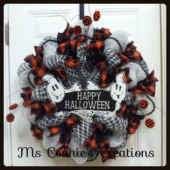 98 best halloween deco mesh wreaths halloween craft supplies images on pinterest halloween. Black Bedroom Furniture Sets. Home Design Ideas