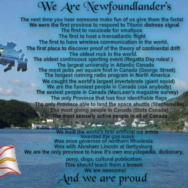We are Newfoundlander's