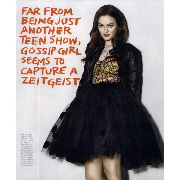 Nylon Editorial The Talk of The Town, May 2008 Shot #5 - MyFDB ❤ liked on Polyvore featuring leighton meester and editorials