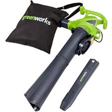 The Greenworks 24072 electric leaf blower is a value priced option that will handle serious cleaning jobs.     The Greenworks 24072 features a powerful 12 Amp electric motor, which delivers up to 150MPH of clearing power. This blower is ideal for sweeping grass clippings and leaves into manageable piles.    The Greenworks 24072 also doubles as a leaf vacuum. The magnesium mulching blade pulverizes leaves and debris into a fine mulch. Conversion from blower to vac mode is simple and tool…