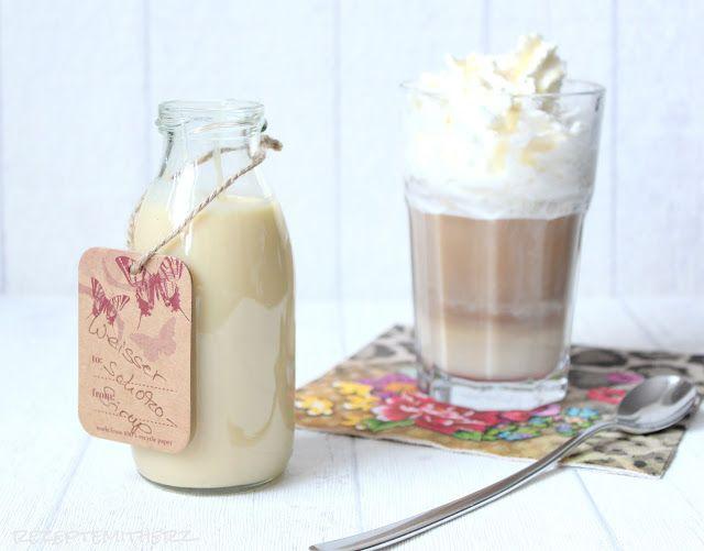 Rezepte mit Herz: White chocolate Mocha Sirup ♡ weisser Schokoladensirup a la Starbucks