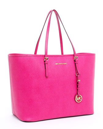 MICHAEL Michael Kors Jet Set Travel Small Travel Tote, Zinnia