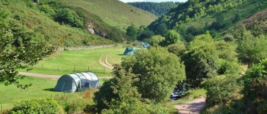 Cloud Farm campsite in Devon (but watch the steep lane into it)