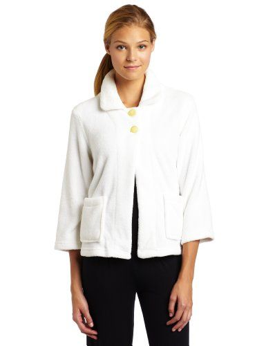 Casual Moments Women`s Bed Jacket-Peter Pan Collar $39.99
