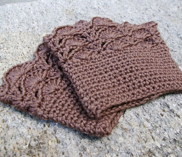 Boot Cuffs in Taupe Brown Crochet Boot Toppers by CandacesCloset