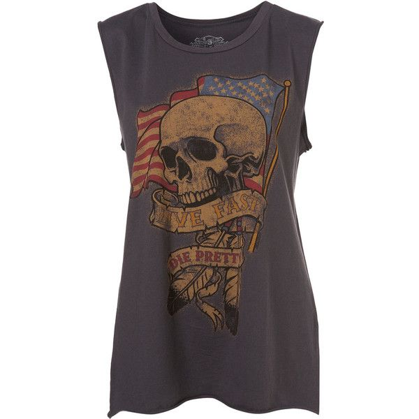 Print Tank Top By Rock Rebels (165 MYR) ❤ liked on Polyvore featuring tops, shirts, tank tops, tanks, blusas, women, pattern tops, pattern shirts, print tank and shirts & tops