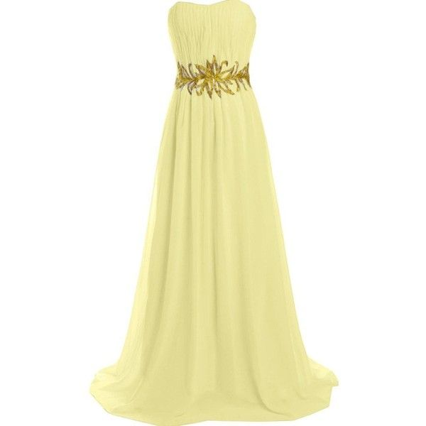 Ivydressing Long Sash Prom Evening Gowns Strapless Ruched Bridesmaid... (€100) ❤ liked on Polyvore featuring dresses, gowns, beige prom dresses, long evening gowns, beige long dress, bridesmaid gown and bridesmaid dresses