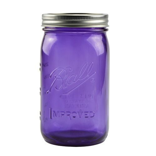 purple mason jars | 32 oz Purple Glass Wide Mouth Mason Jars