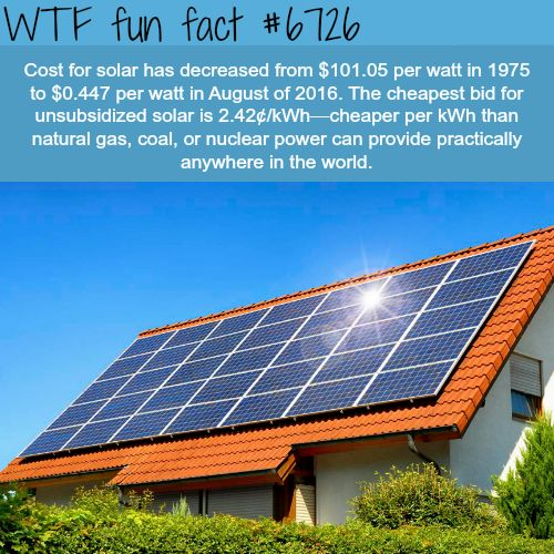 Facts about Solar energy - WTF fun fact