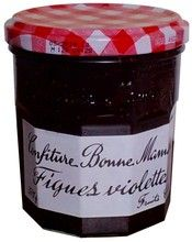 PURPLE FIG JAM $5.90 Bonne Maman' s purple fig jam is particularly appreciated by gourmets. It is an exquisite treat whether you spread it on bread, a croissant or a crêpe.  Founded 40 years ago, family-owned Bonne Maman has since become the leading French jam maker. The endearing, old-fashioned look of Bonne Maman jars has remained the same ever since the company started.   370 grams / 13.3 oz