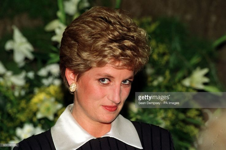 1994 Diana, Princess of Wales, waits to be shown to her box at the Grand Final of the National Power World Piano Competition, at the Royal Festival Hall.