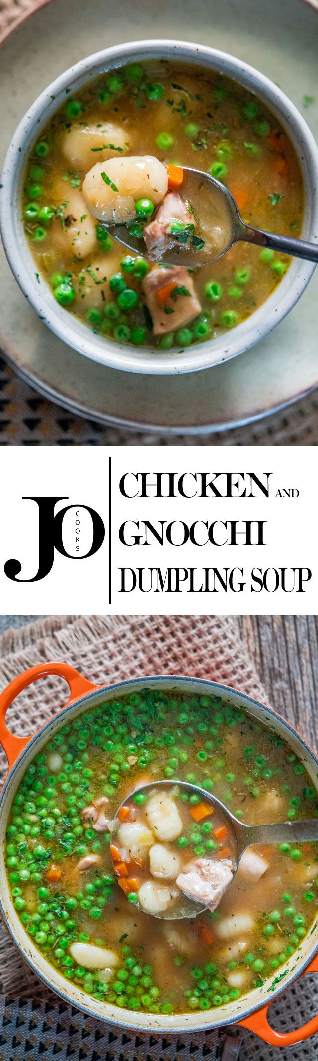 This Chicken and Gnocchi Dumpling Soup is perfect for this time of year, it's comforting, delicious and made with gnocchi. Super easy to make!