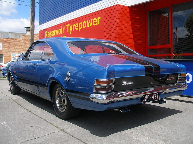 Holden HT Monaro, nice blue and black paint
