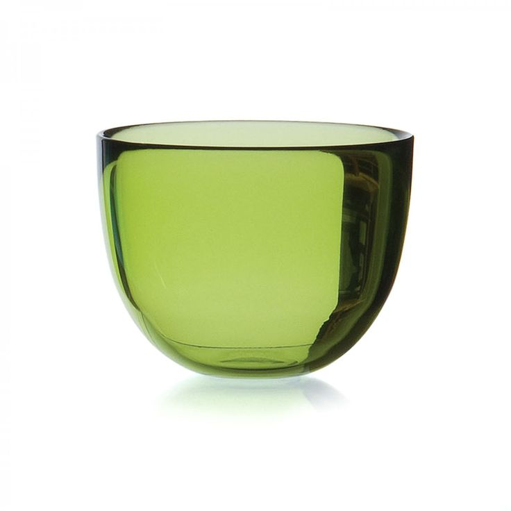 Coloured Glass Small Bowl/Candleholder, Lime Green - David Mellor - David Mellor Design #glassware