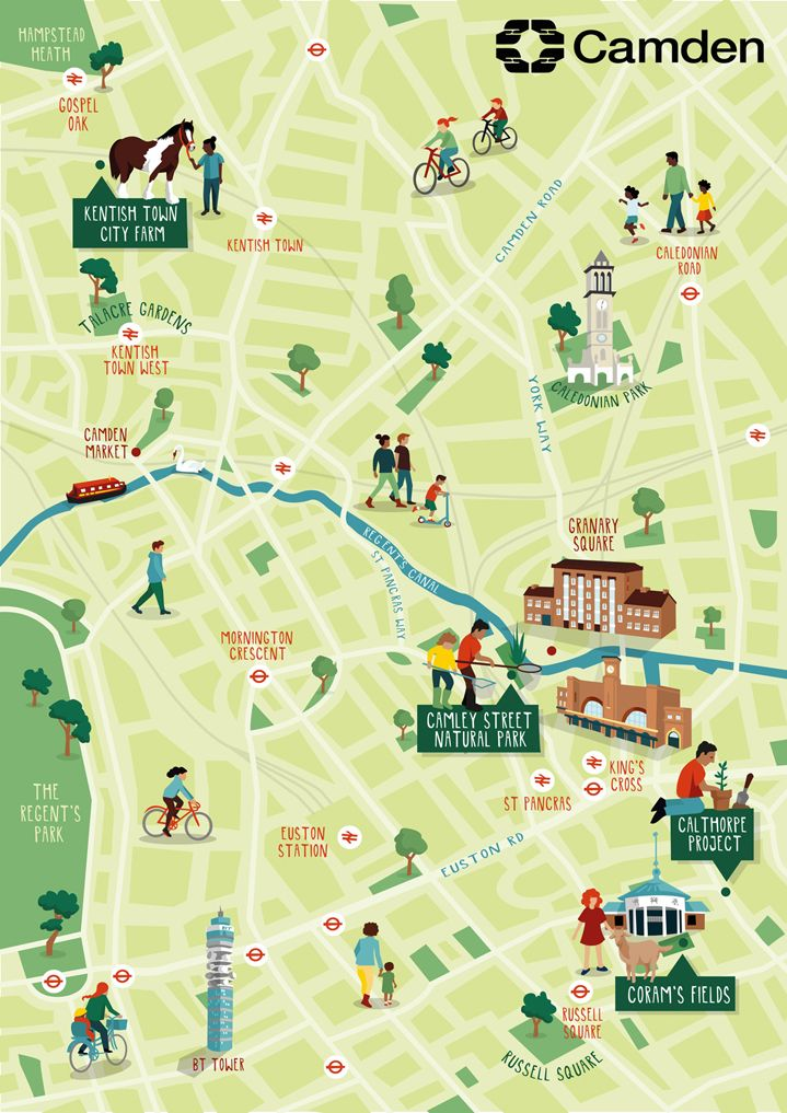 Kerry Hyndman Illustrator Central Illustration Agency Map