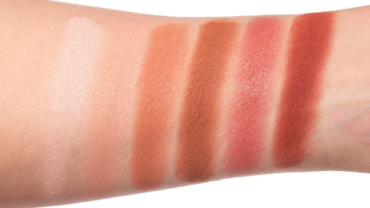 Urban Decay Naked Heat Palette (L-R) Ounce, Chaser, Sauced, Low Blow, Lumbre, He Devil