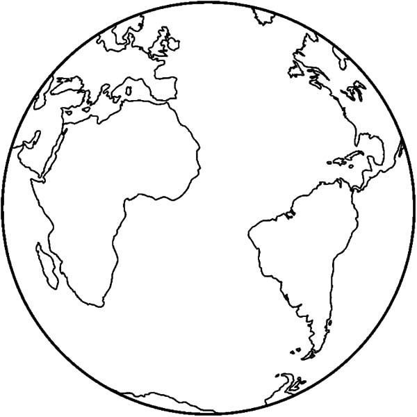 Earth Map Coloring Page In 2020 World Map Printable World Map