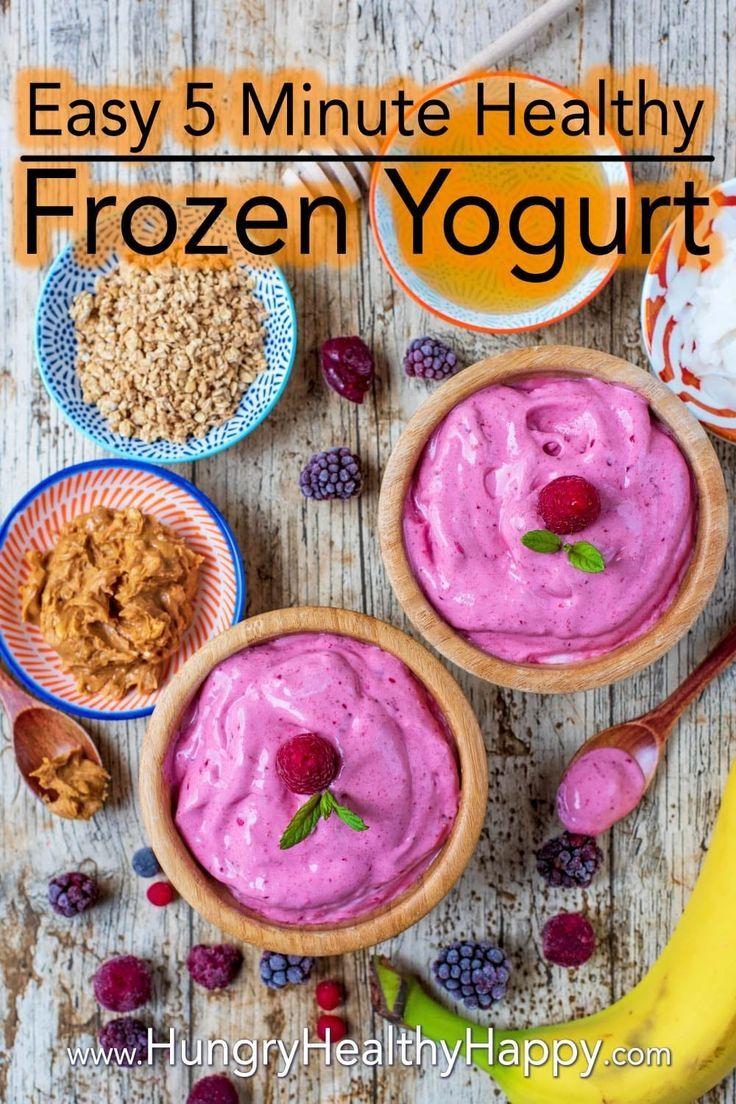 Healthy Frozen Yogurt Recipe Homemade Frozen Yogurt Healthy Frozen Yogurt Frozen Yogurt
