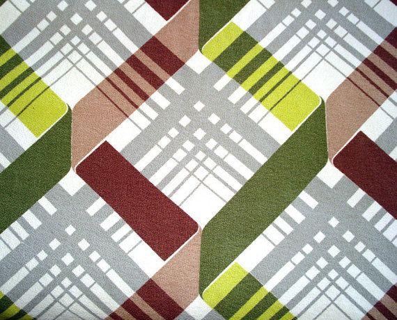 Geometric and abstract  retro Barkcloth.  Be sure to visit my blog cdiannezweig.blog and to join my site http://iantiqueonline.ning.com/