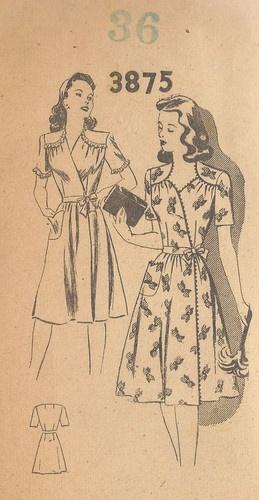 1940s Vintage Sewing Pattern DRESS (169)