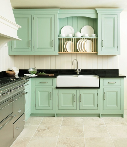 Mint green kitchen, Green kitchen cabinets and Green kitchen on