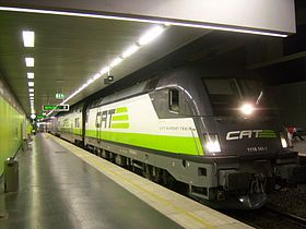 VIENNA: City Airport Train (CAT), 19euro roundtrip from airport to city center, 16min ride