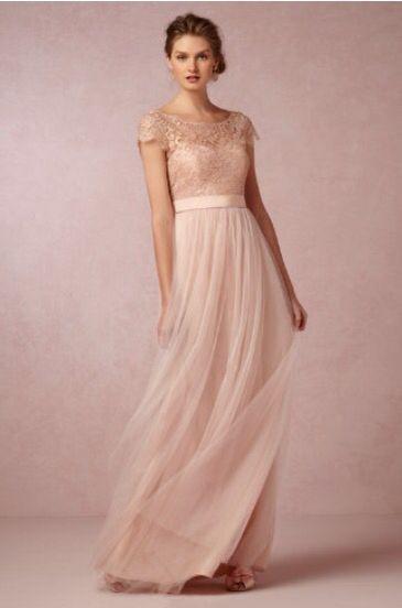 Vestido dama honor rosa palo