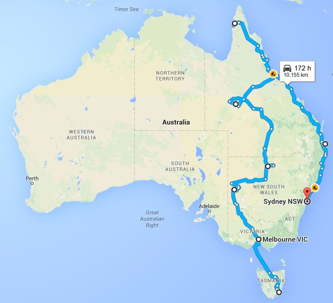 Driving Melbourne to Sydney via Cape York and the Queensland Coast - Our Great Australian Road Trip Plan - The Trusted Traveller