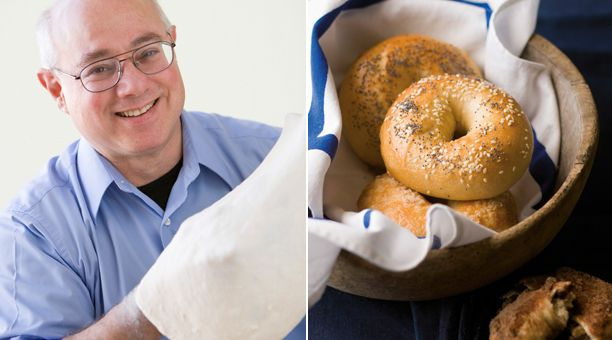 How to Make Bagels: A User's Manual  Poppy seed, onion, cinnamon-raisin, or plain, here's the ultimate recipe, plus a step-by-step guide to the process   By Peter Reinhart [click for article]