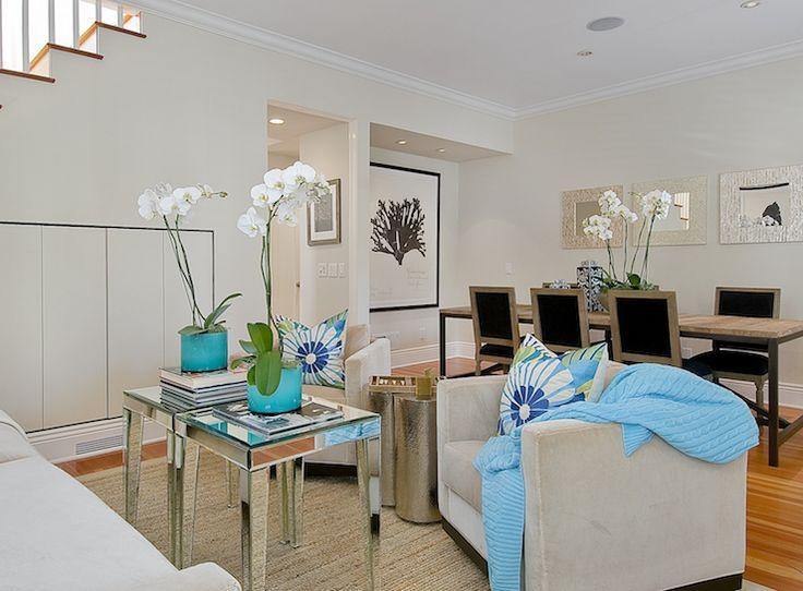 Mirrored Accent Tables Contemporary Living Room Tamara Mack Design