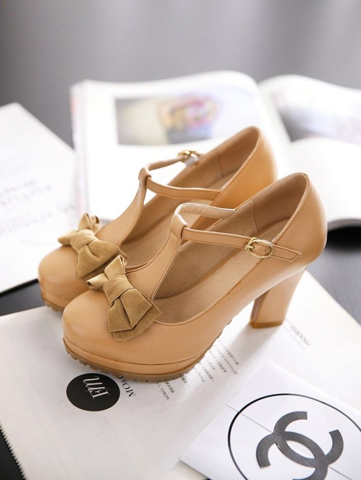 Spring and autumn bow belt t thick heel high heels women's shoes vintage formal work pumps single shoes women's platform shoes-inPumps from Shoes on Aliexpress.com | Alibaba Group