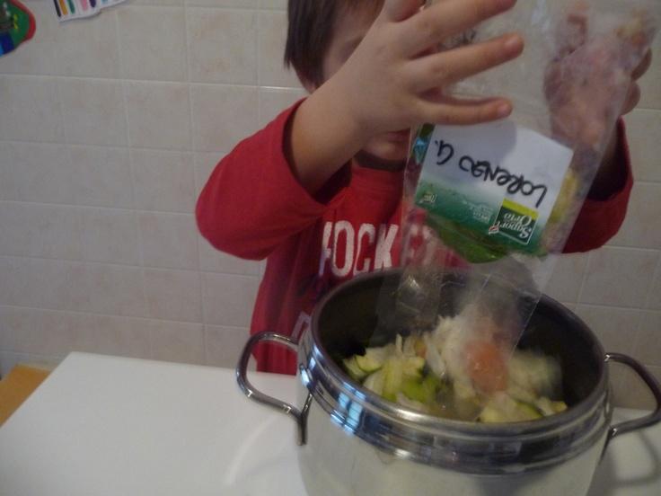 Laboratorio con le verdure Sipo: a casa si mette in pentola