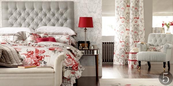 Bedroom furniture and bedding from Laura Ashley