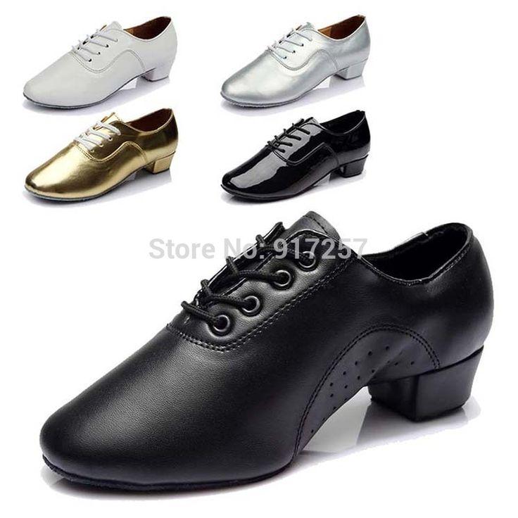 Современная мужская Бальные Танго Танцевальная Обувь Мужская Танцевальная Обувь Черный Белый Серебро Золото Цвета