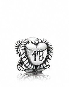 number 18 pandora charm