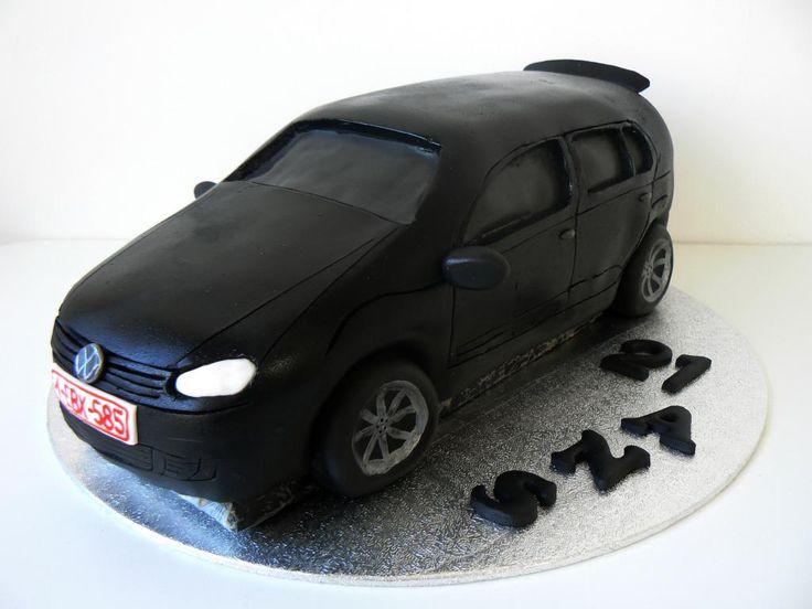 VW volkswagen golf VI cake